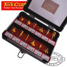 ROUTER BIT SET 12PC/ALU.CASE 1/4""