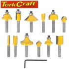 "ROUTER BIT SET 12PC 1/4"" STRAIGHT & PROFILE"
