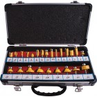 ROUTER BIT SET 24PC ALUM.CASE 1/4""