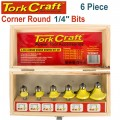 ROUTER BIT SET 6PC CORNER ROUND WOOD CASE
