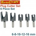 5PCE PLUG CUTTER SET 6-8-10-12-16MM