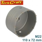 HOLLOW CORE BIT TCT 110 X 72MM M22