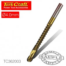 DRILL SAW 4MM TIN. COATED CARDED