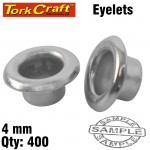 SPARE EYELETS 4MM X 400PC FOR TC4300