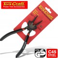 PLIER CIRCLIP BENT INTERNAL 170MM