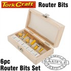 ROUTER BIT SET 6PCE WOODEN BOX