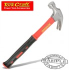 HAMMER CLAW 450G (16OZ) FIBREGLASS HANDLE 295MM & FULL POL HEAD