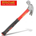 HAMMER CLAW 570G (20OZ) FIBREGLASS HANDLE 295MM & FULL POL HEAD