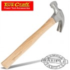 HAMMER CLAW 450G (16OZ) WOODEN HANDLE 280MM & FULL POL HEAD