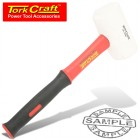 HAMMER RUBBER MALLET 450G (16OZ) FIBREGLASS HANDLE