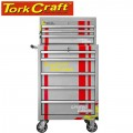 TORK CRAFT 5 DRAWER TOOL TROLLEY WITH 3 DRAWER TOP BOX ON CASTORS