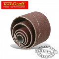 SANDING DRUM REPL. SLEEVES 120GR. 5/PK SET QTY.5 13 - 50mm