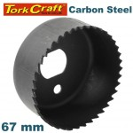 CARBON STEEL HOLE SAW 67MM
