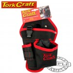 TOOL POUCH NYLON 2 POCKET WITH BELT CLIP & DRILL POUCH