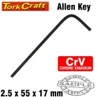 ALLEN KEY CRV BLACK FINISHED 2.5 X 55 X 17MM