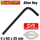 ALLEN KEY CRV BLACK FINISHED 4.0 X 65 X 23MM
