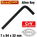 ALLEN KEY CRV BLACK FINISH 7.0 X 94 X32MM