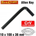 ALLEN KEY CRV BLACK FINISH 10 X 100 X 36MM