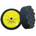 COMPOUNDING SPONGE 150MM X M14 BLACK WAFFLE SOFT