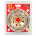 DIA. CUP WHEEL 115 X 22.23MM DBL ROW COLD PRESSED