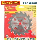 BLADE TCT 140 X 16T 20/16/13 GENERAL PURPOSE RIP WOOD