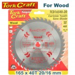 BLADE TCT 165 X 40T 20/16 GENERAL PURPOSE COMBINATION
