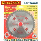 BLADE TCT 185 X 40T 30/20/16/1 GENERAL PURPOSE COMBINATION
