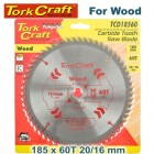 BLADE TCT 185 X 60T 20/16 GENERAL PURPOSE CROSS CUT