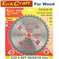 BLADE TCT 235 X 40T 30/16 GENERAL PURPOSE COMBINATION