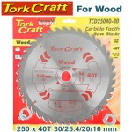 BLADE TCT 250 X 40T30/1/20/16 GENERAL PURPOSE COMBINATION