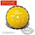 DIAMOND BLADE 10MM SEG FOR CUTTING BUILDING MATERIALS 230MM 22.23