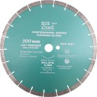 DIAMOND BLADE 300 x 25.4MM GREEN / NEW CONCRETE HOT PRESSED SEGMENTED