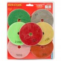 SET OF 7 DIAMOND WET POLISHING PADS 100MM