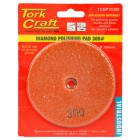 100MM DIAMOND WET POLISHING PAD 300 GRIT ORANGE