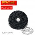 100MM DIAMOND POLISHING PAD 500 GRIT RED