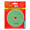 100MM DIAMOND WET POLISHING PAD 1000 GRIT DARK GREEN