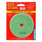100MM DIAMOND POLISHING PAD 1000 GRIT DARK GREEN