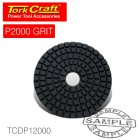100MM DIAMOND POLISHING PAD 2000 GRIT LIME GREEN