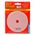 100MM DIAMOND POLISHING PAD 3000 GRIT PINK
