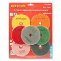 SET OF 7 DIAMOND POLISHING PADS 100MM DRY USE