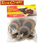 NON WOVEN DISC SCREW TYPE 50MM 10PC BROWN COARSE FOR SURFACE COND. KIT
