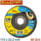 FLAP DISC ZIRCONIUM 115MM 40GRIT ANGLED