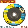 FLAP DISC ZIRCONIUM 180MM 60GRIT ANGLED