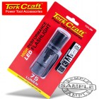 TORCH LED ALUM. 75LM BLK USE 3 X AAA BATTERIES TORK CRAFT FLASH LIGHT