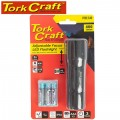TORCH LED ALUM FOCUS ADJ 400LM BLK USE 3 X AAA BAT 2 MODE FLASH LIGHT