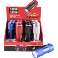 TORCH LED ALUM M/COL X12 PDQ BOX INCL AAA BATTERIES TORK CRAFT FLASH L