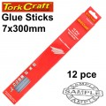 GLUE STICK 07 X 300MM 12PC HOT MELT GEN. PURPOSE EVA 18000CPS