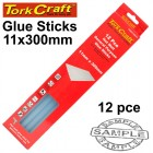 GLUE STICK 11 X 300MM 12PC HOT MELT GEN. PURPOSE EVA 18000CPS