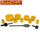 HOLESAW SET 13PCE IN CASE CARBON STEEL