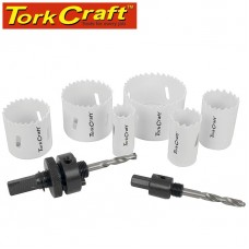 HOLESAW SET 9PC IN CASE BI-METAL 22 29 35 44 51 64MM